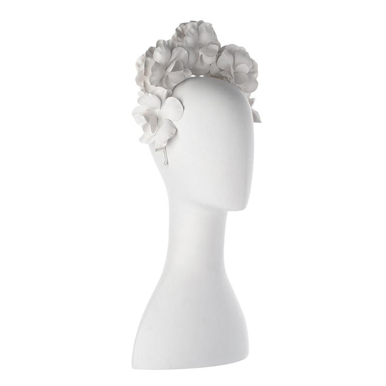 Flora Floral Fascinator White front view