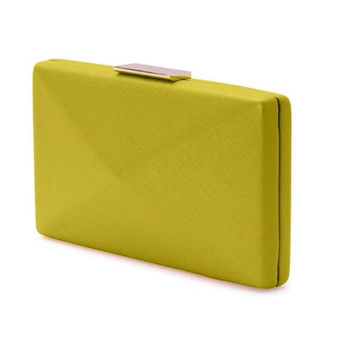 Kimbra Simple Angular Pod Clutch Handbag Yellow
