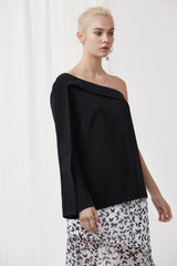 Overpowered Long Sleeve Top Black Front
