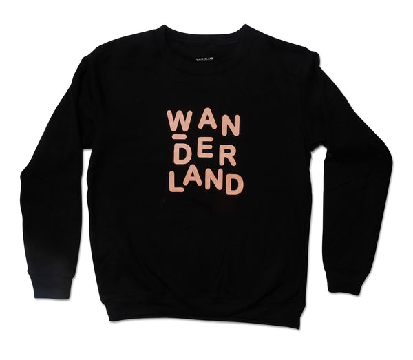 WANDERLAND BLACK SWEATER