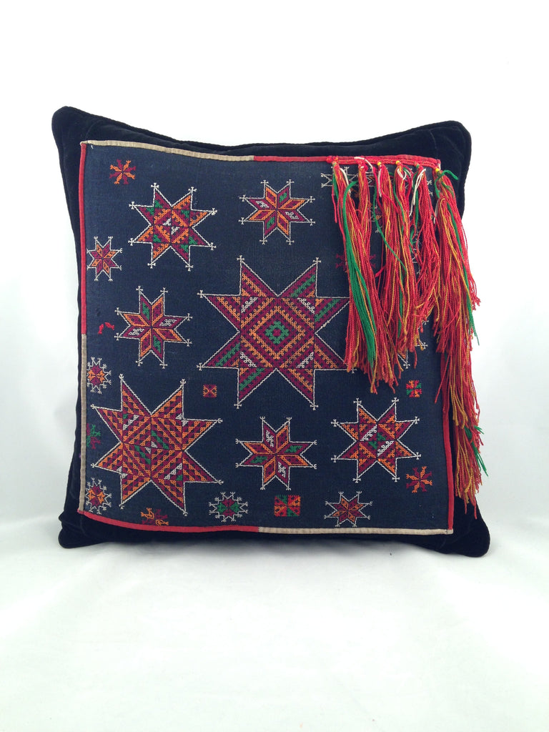 Pillow - Stars Tassle Square - Tamaryn Design