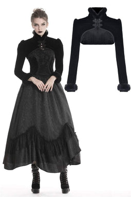 DARK IN LOVE Women's Gothic Fluffy Stand Collar Capes