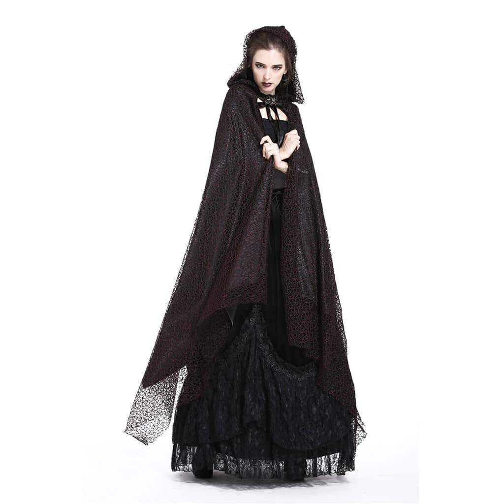 Women's All Lace Long Goth Cape-Punk Design