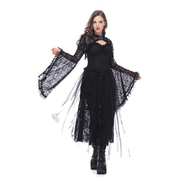 Women's Bell Sleeved All Lace Cape-Punk Design