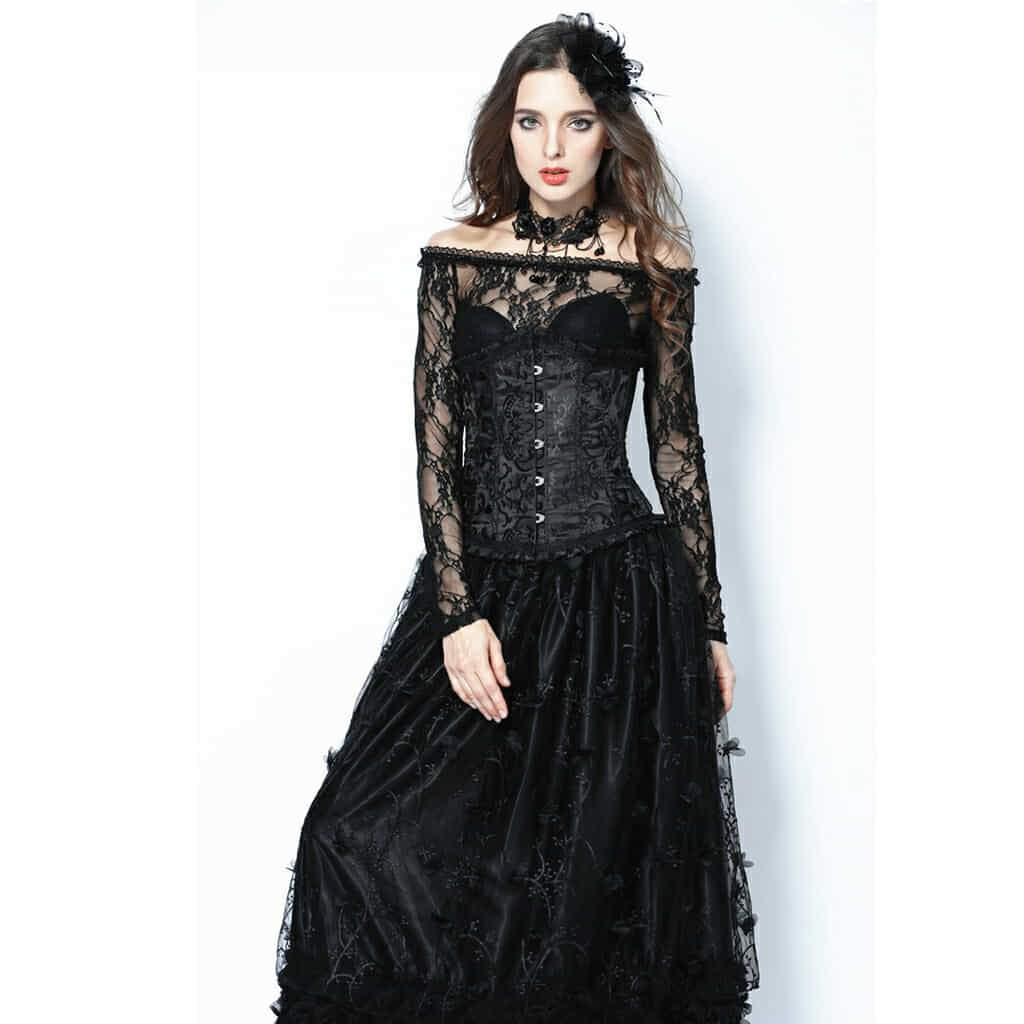Women's Brocade Goth Corset-Punk Design