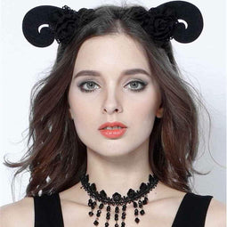 Women's Curled Goth Fascinator-Punk Design