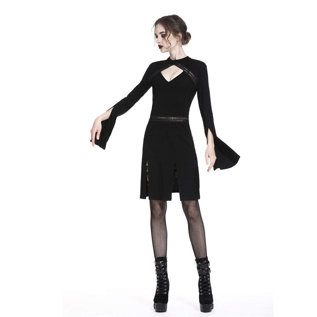 Darkinlove Women's Punk Peekaboo Neck Dress