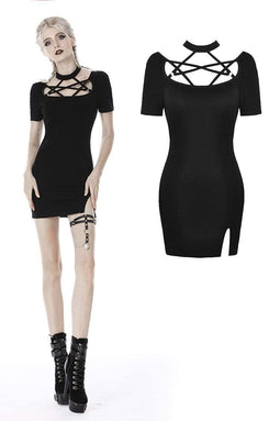 darkinlove Women's Punk Pentagram Bandage Chest Tight Dresses