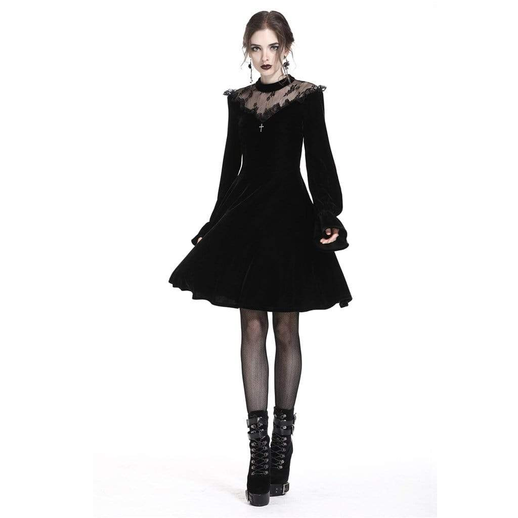 Darkinlove Women's Vintage Inspired Goth Dress
