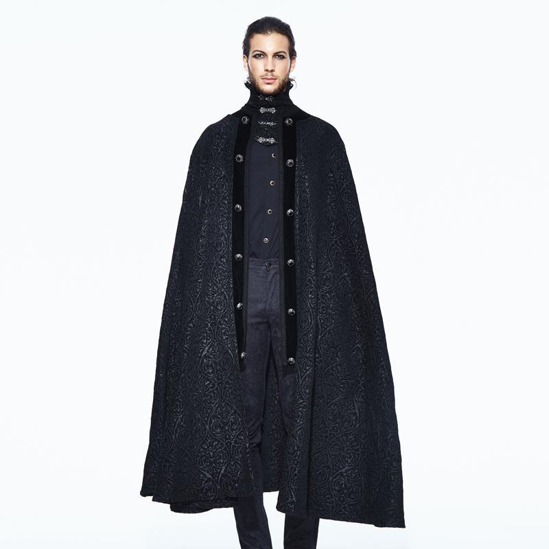 Men's Goth Jacquard Cape - PunkDesign
