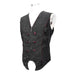 DEVIL FASHION Herren Gothic Contrast Color Zip Jacquard Tailed Vests