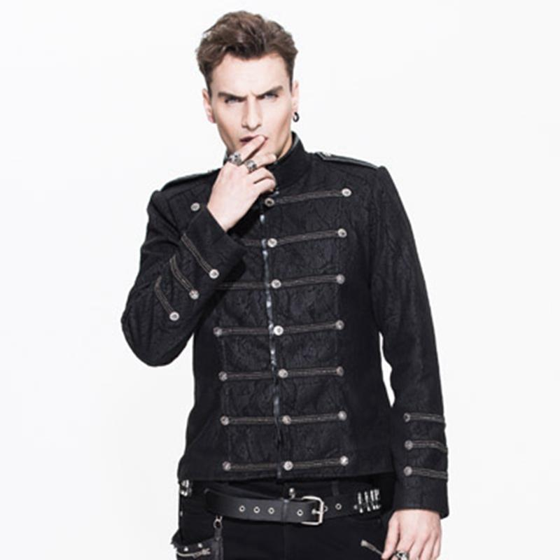 Men's Military Style Short Tailcoat - PunkDesign