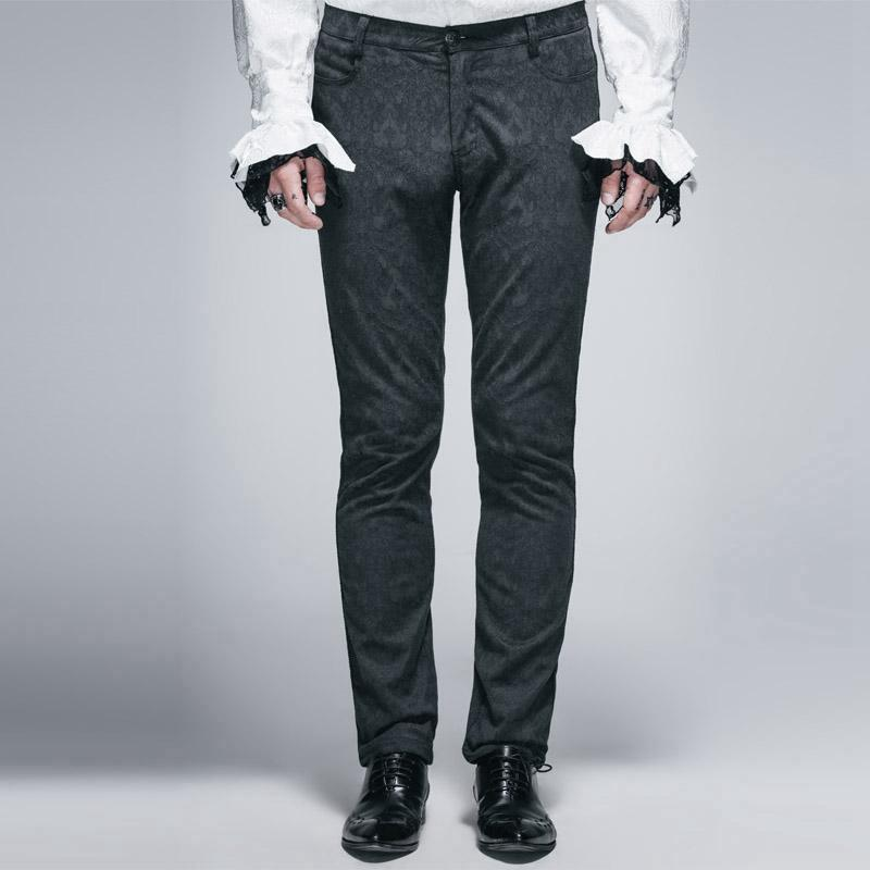 Men's Punk Classic Brocade Trousers - PunkDesign