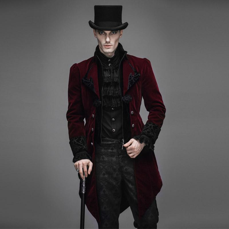 Men's Ruffled Sleeve Vintage Tailcoat - PunkDesign