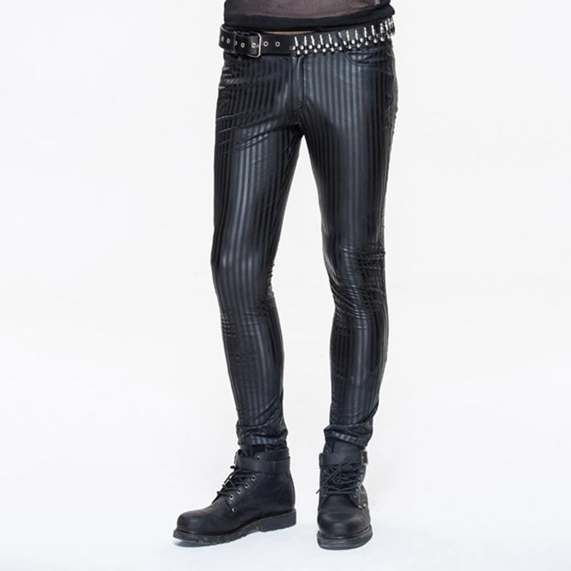 Skinny Punk Striped Hose für Herren - PunkDesign