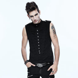 Men's Sleeveless Fitted Punk Shirt - PunkDesign