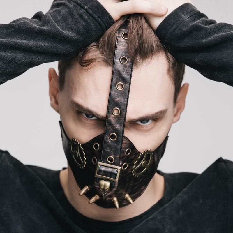 Men's Steampunk Gears and Bullets Face mask-Punk Design