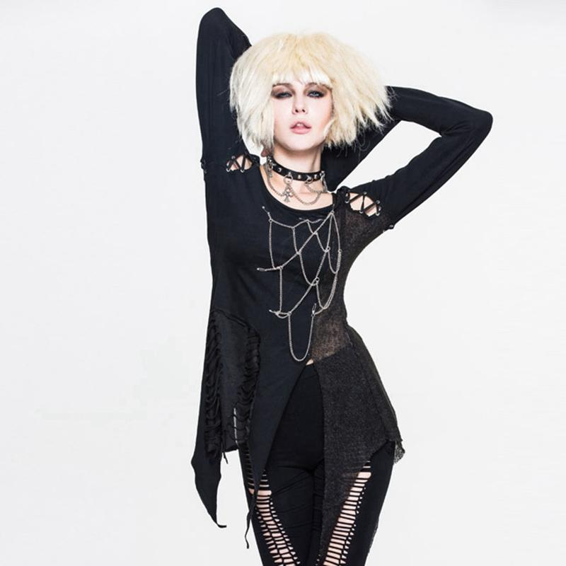 Women's Asymmetric Spider Web Goth Dress-Punk Design
