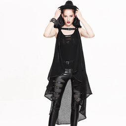 Frauen drapiert Punk Cape-Punk-Design