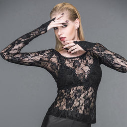 T-shirt Punk Femme Full Lace-Design Punk