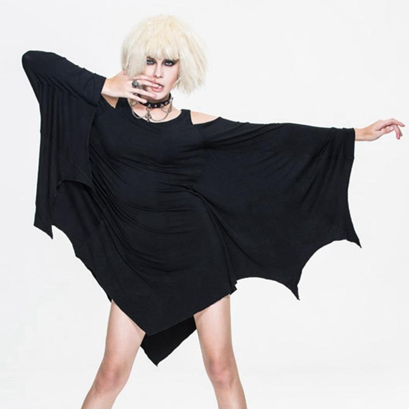 Women's Goth Batwing Dress-Punk Design