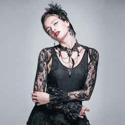 Women's Goth Bolero Jacket-Punk Design