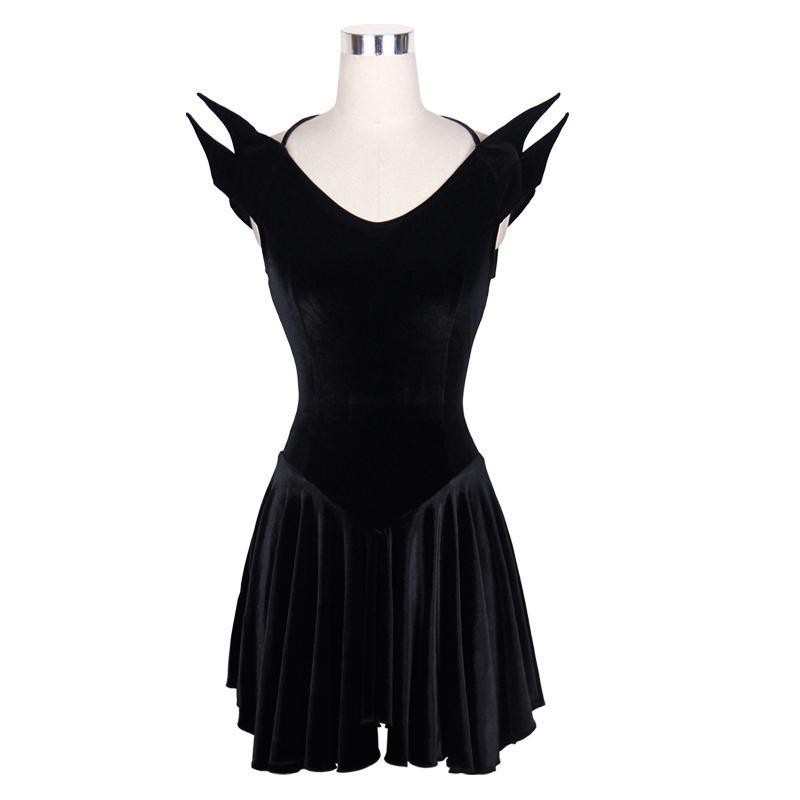 Damen Goth Drop Waist Short Dress-Punk Design
