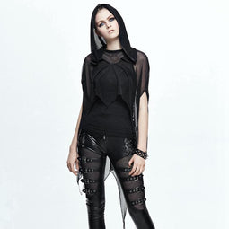 Women's Goth Sheer Cape-Punk Design