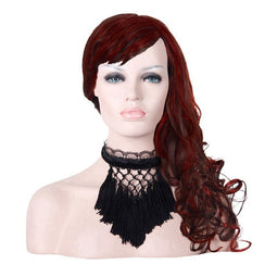 Women's Lace & Net Tasseled Choker-Punk Design