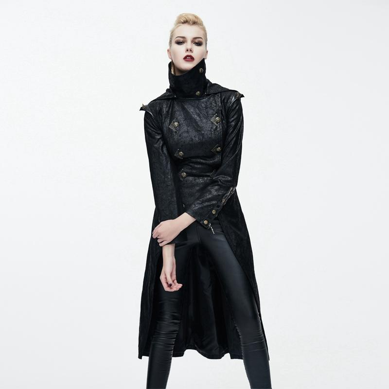 Women's Medieval style Military Overcoat-Punk Design