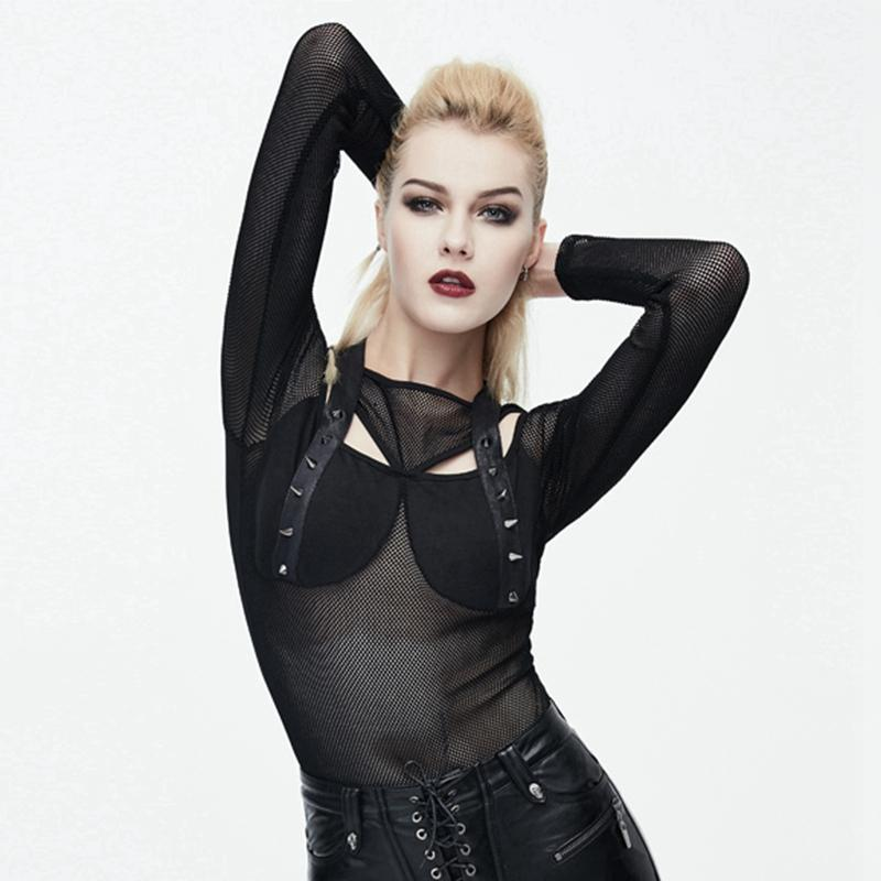 Women's Mesh Punk Top-Punk Design