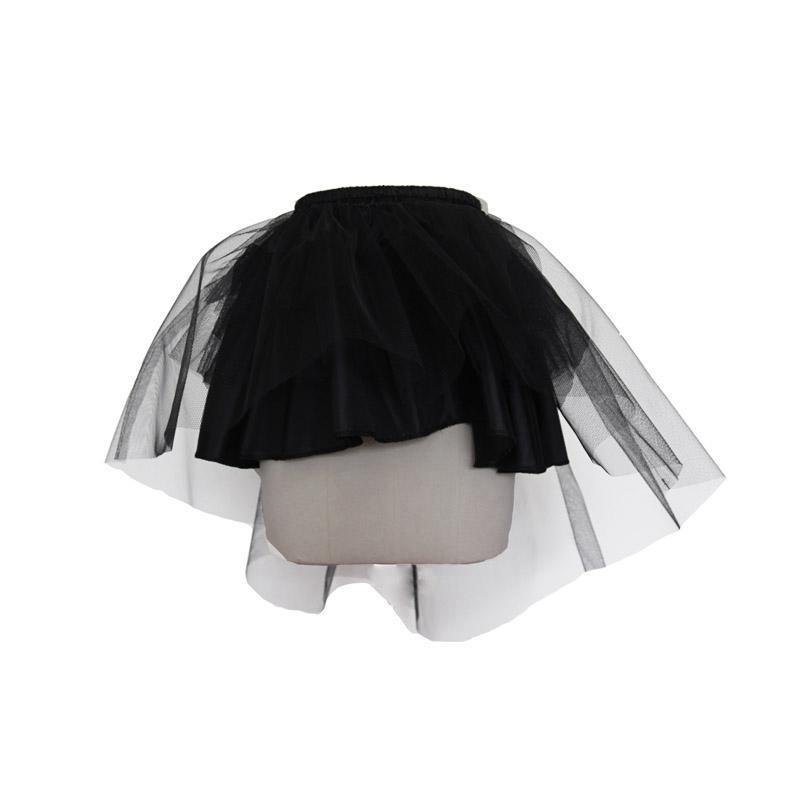 Women's Punk Mini Skirt With Net-Punk Design
