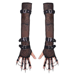 Women's Spikey Full Sleeve gloves-Punk Design