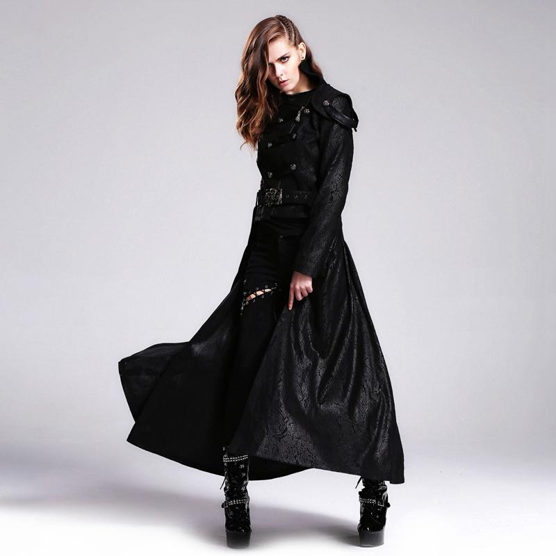 Women's Vintage Basque Style Coat with Detachable Skirt-Punk Design