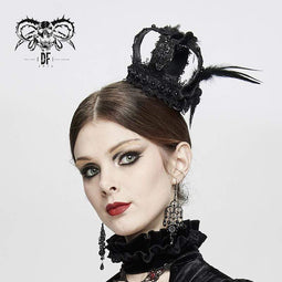 DEVIL FASHION Vintage Vintage Wunderschöne Floral Lace Jewels Feather Mini Hats