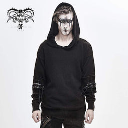 DEVILFASHION Men's Casual Winter Spliced Sweaters&Hoodies