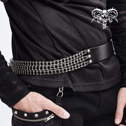 DEVILFASHION Men's Chains Joint Waist Belts