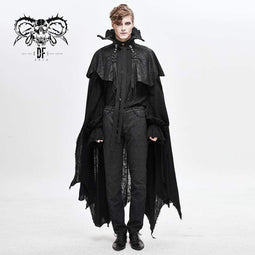 DEVILFASHION Men's Two-pieces Tassels Devil Cloaks