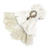 DEVILFASHION Men's Vintage Lace Edge Pandent White Bowties