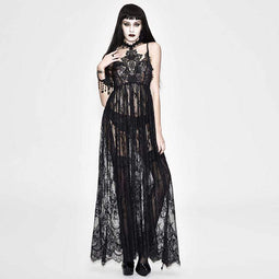 EVA LADY Women's All Lace Long Goth Dress