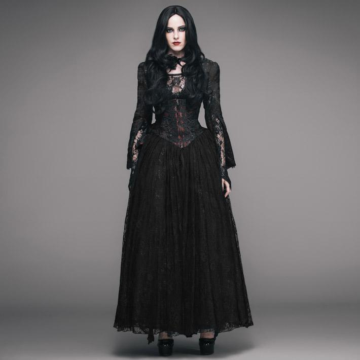 Women's Basque Style Goth Punk Lace Gown-Punk Design