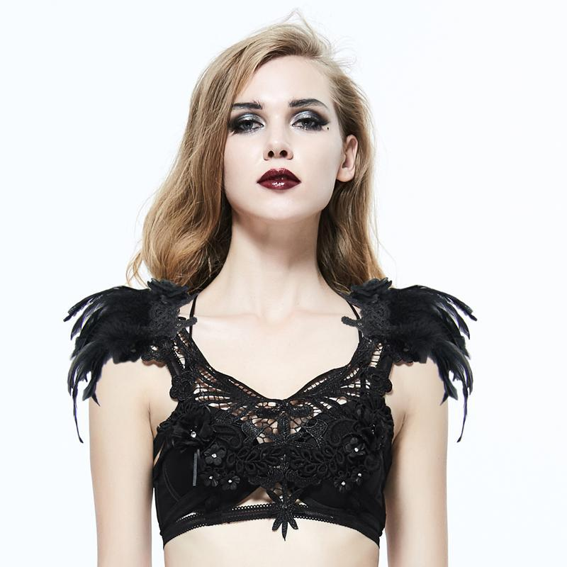 Women's Elaborate Gothic Chest Harness-Punk Design