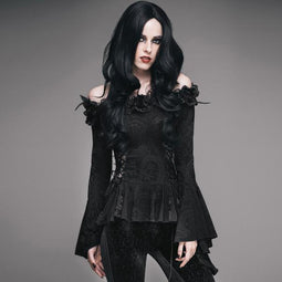 Women's Embellished Gothic Punk Top-Punk Design
