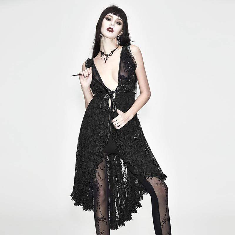 EVA LADY Women's Goth Lace Over Dress