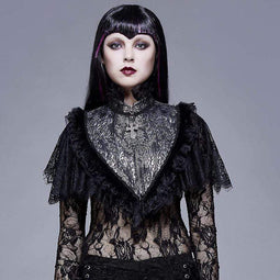 EVA LADY Women's Goth Multilayer Lace Cape