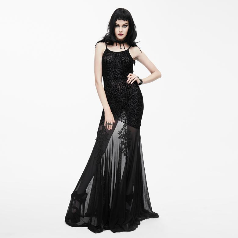 Frauen Goth Punk Mermaid Gown-Punk Design