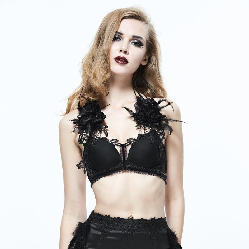 Women's Gothic Lace Chest Harness-Punk Design