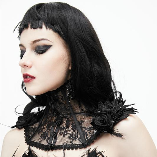 Damen Gothic Lace Collar-Punk Design