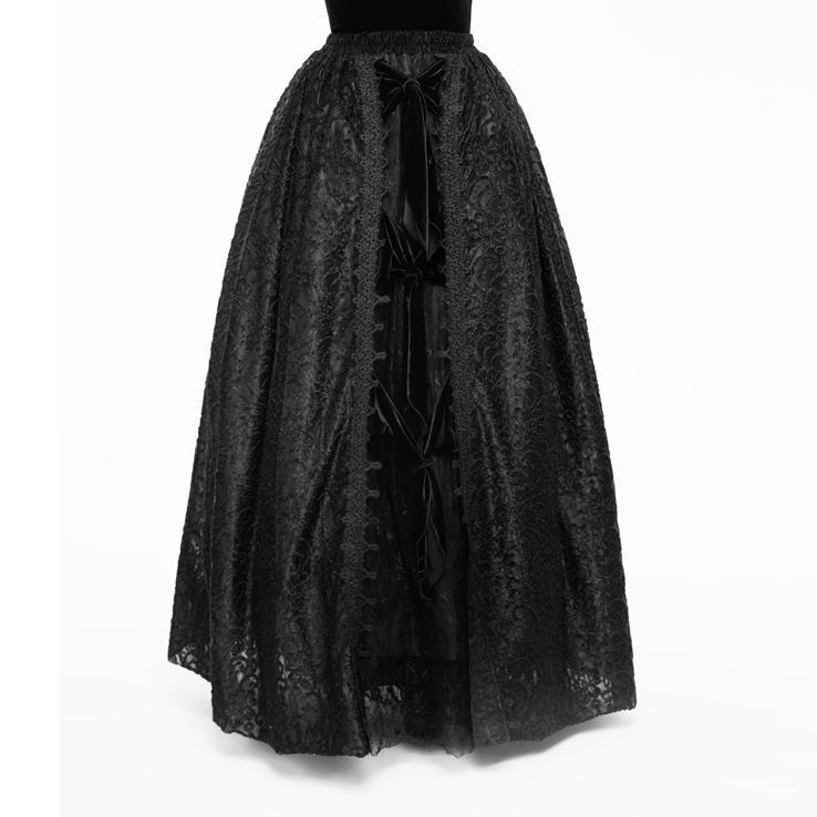 Women's Gothic Slip On Lace Skirt-Punk Design