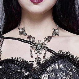 EVA LADY Women's Steampunk Gem Exaggerated Necklaces